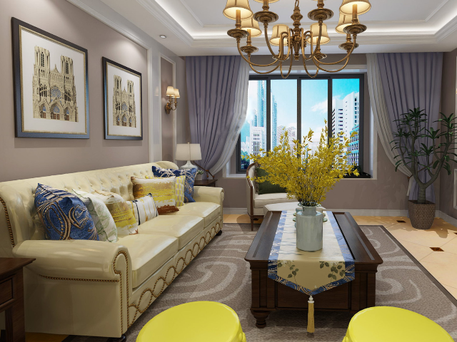 珠江罗马家园简约美式3D全景