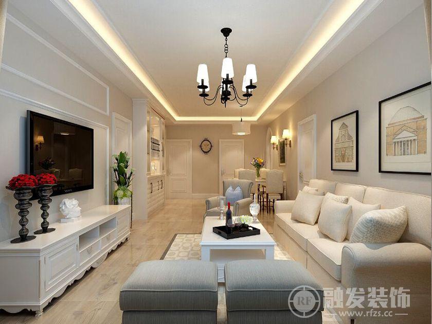 珠江帝景 156㎡ 三居 美式风格装修案例