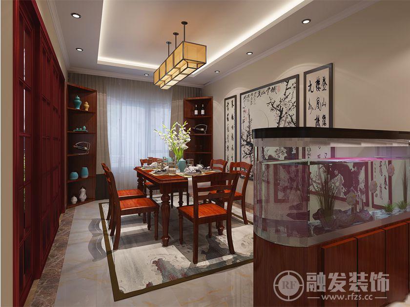 风景club 124㎡ 三居 新中式装修案例