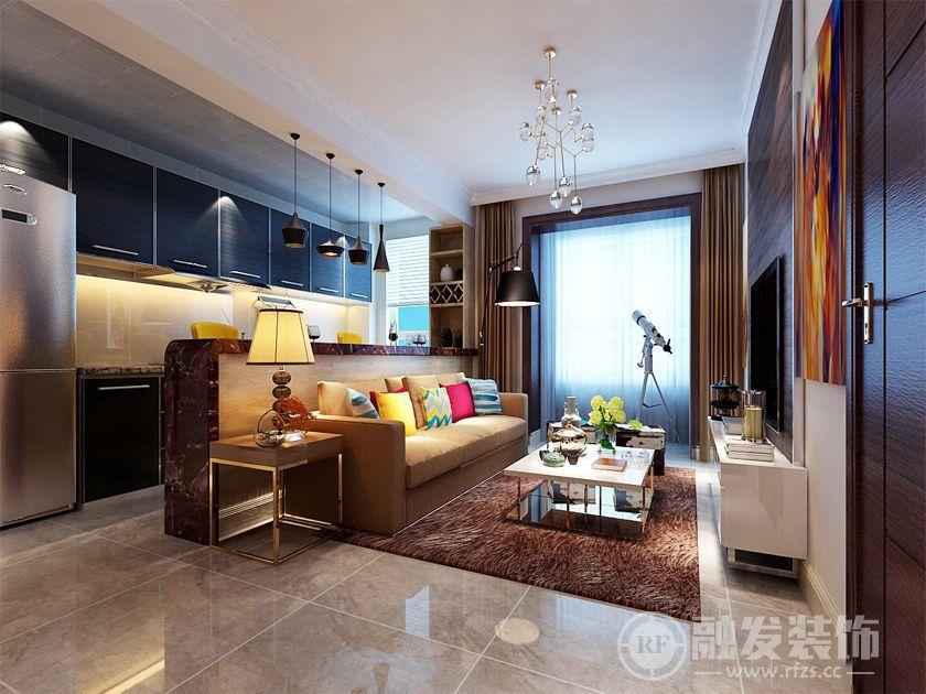 惠新里小区 56㎡ 一居 现代简约装修风格