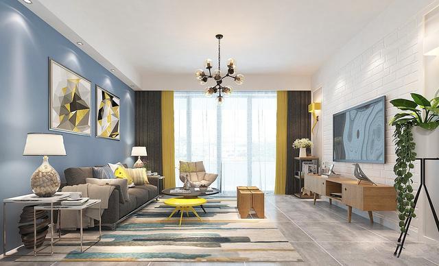 12万打造100平米蓝色北欧风,让家居更有温馨感